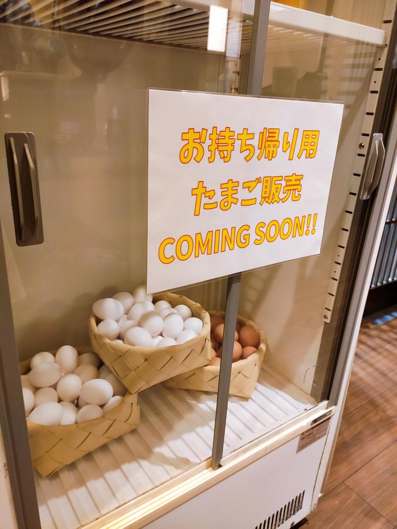 お持ち帰り卵の販売