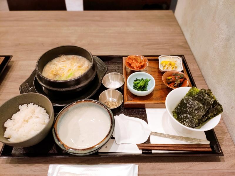 ソロンタン定食1380円