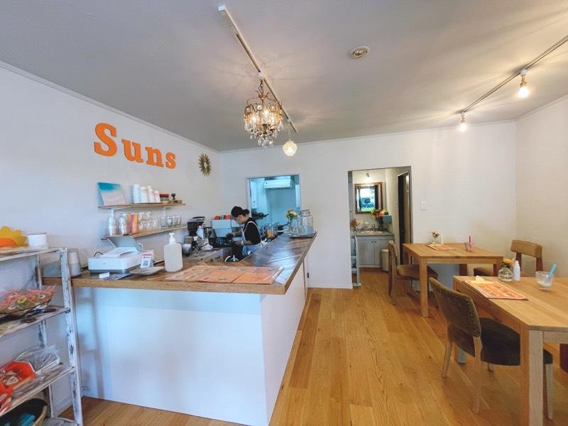 Suns Smoothie&Cafeの内観