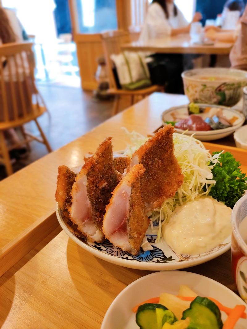氏ノ木の究極のアジフライ定食のアップ写真