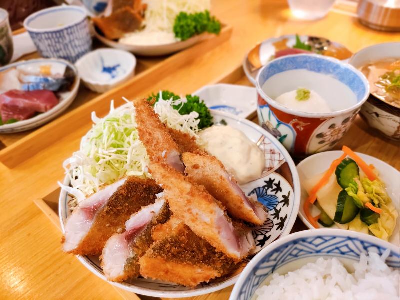 氏ノ木の究極のアジフライ定食
